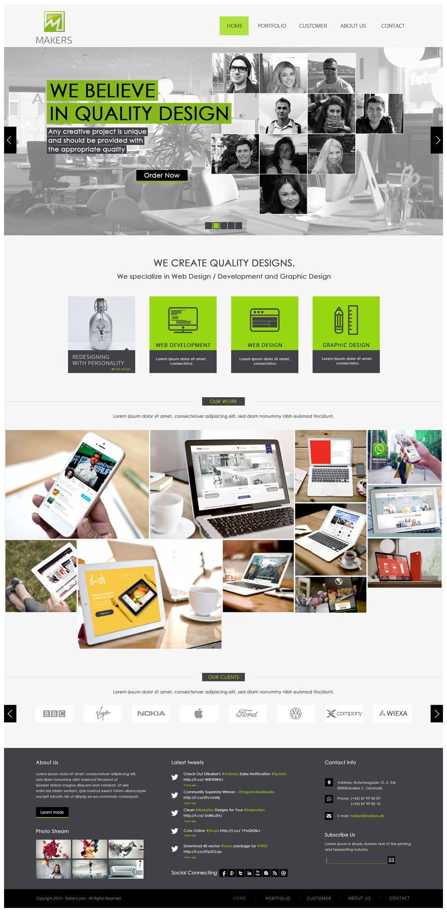 Konkurrenceindlæg #                                        25                                      for                                         Design a Website Mockup for http://makers.dk