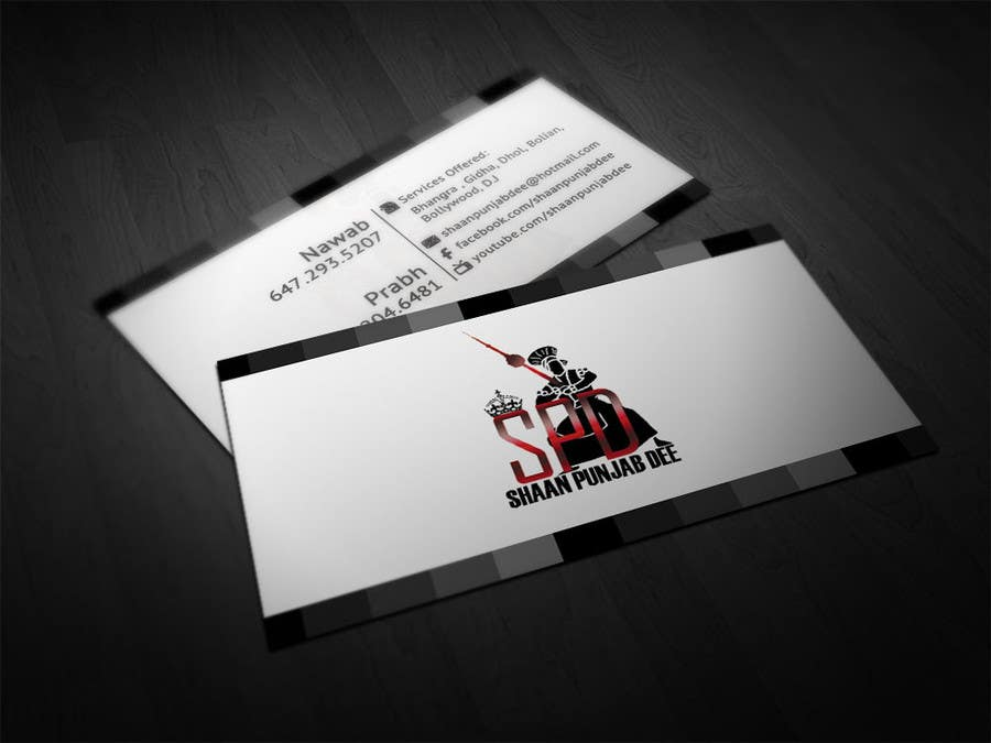 Entry #6 by makiskyrkos for Design some Business Cards for Dance ...