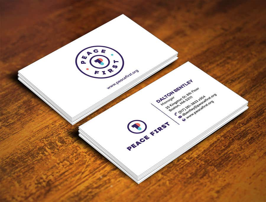 Entry #220 by raptor07 for Design Business Cards for Peace First ...