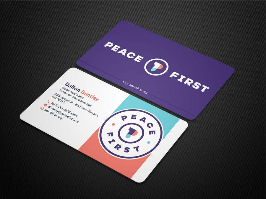 Entry #328 by BikashBapon for Design Business Cards for Peace First ...