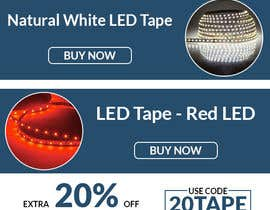 #63 for Design an LED Tape Banner for Email by owlionz786
