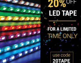 #34 for Design an LED Tape Banner for Email by CFking