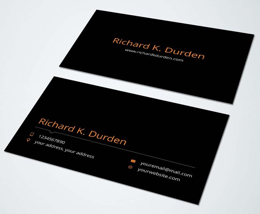 Contest Entry 13 For Design Professional Personal Business Cards