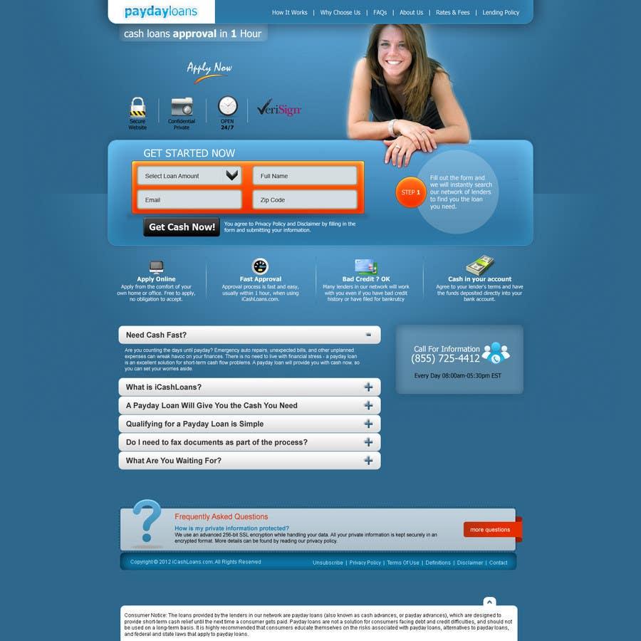 Bài tham dự cuộc thi #8 cho Website Design for Payday Loans Website