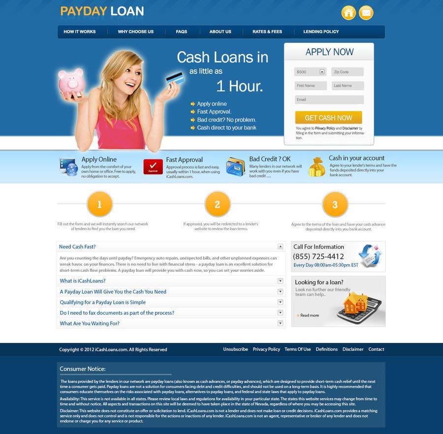 Inscrição nº                                         33                                      do Concurso para                                         Website Design for Payday Loans Website