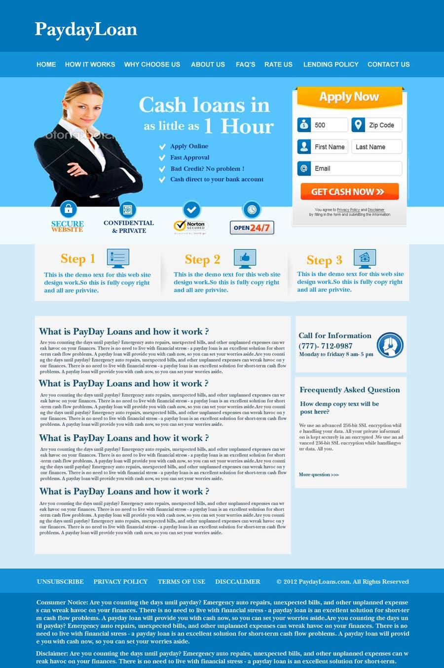 Inscrição nº                                         89                                      do Concurso para                                         Website Design for Payday Loans Website