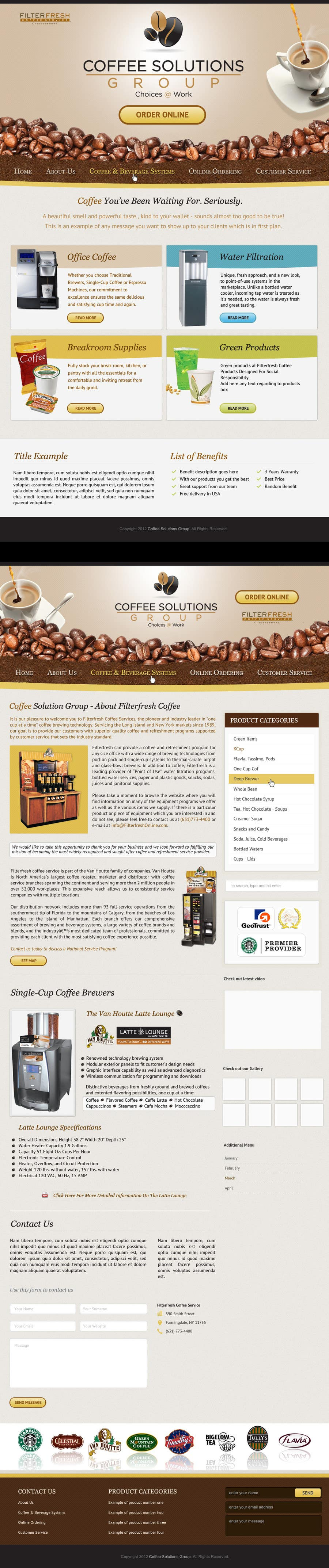 Proposition n°                                        61                                      du concours                                         Website Design for Coffee Solutions Group