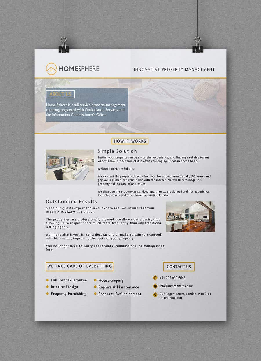 entry 21 by chowdhuryfahmida for design a one page flyer brochure