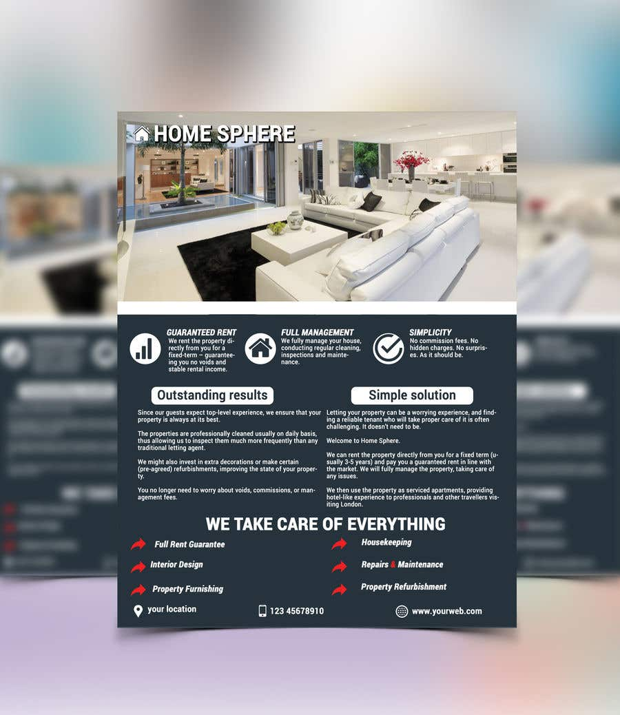 entry 4 by jilane720 for design a one page flyer brochure freelancer