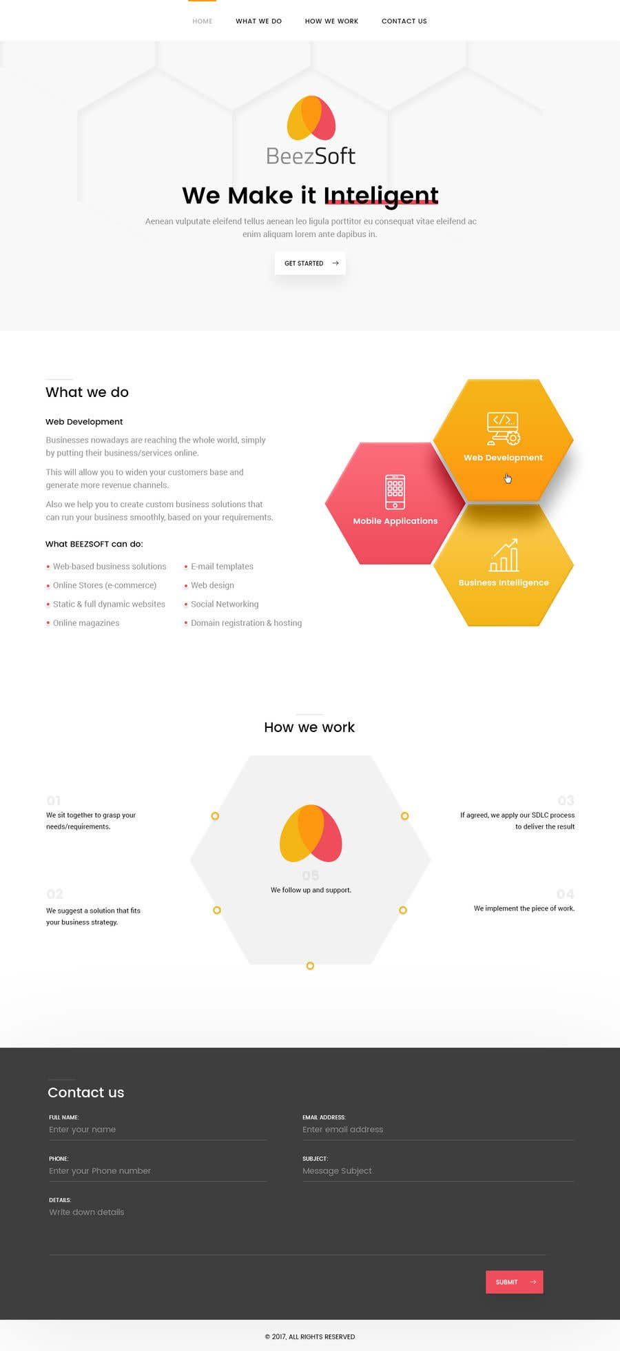 Bài tham dự cuộc thi #55 cho Design and build 1 page static introduction website