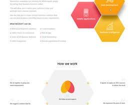 Nro 55 kilpailuun Design and build 1 page static introduction website käyttäjältä nizagen