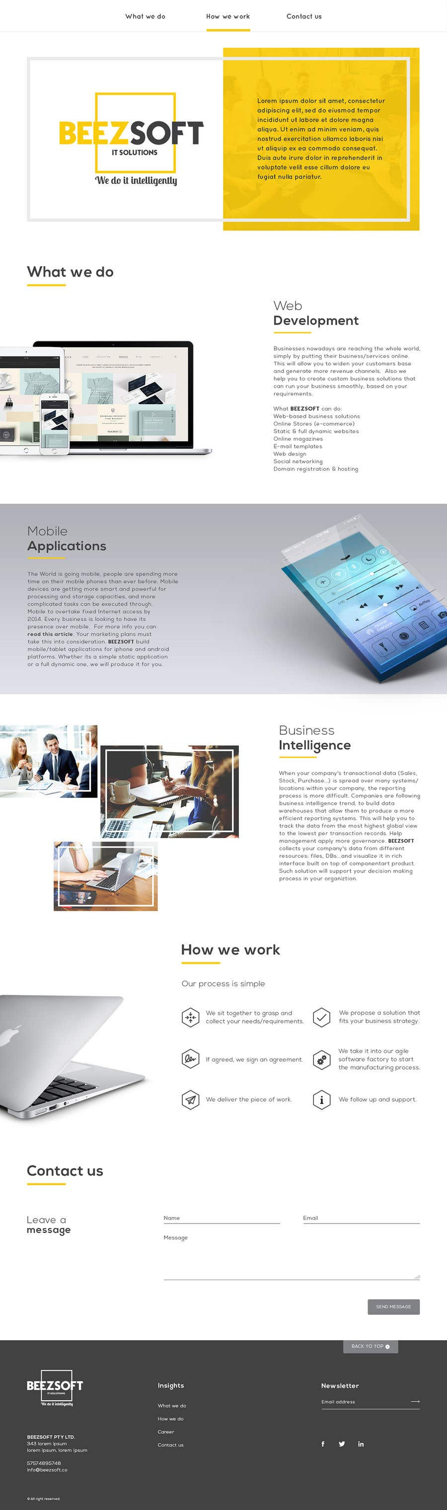 Bài tham dự cuộc thi #59 cho Design and build 1 page static introduction website