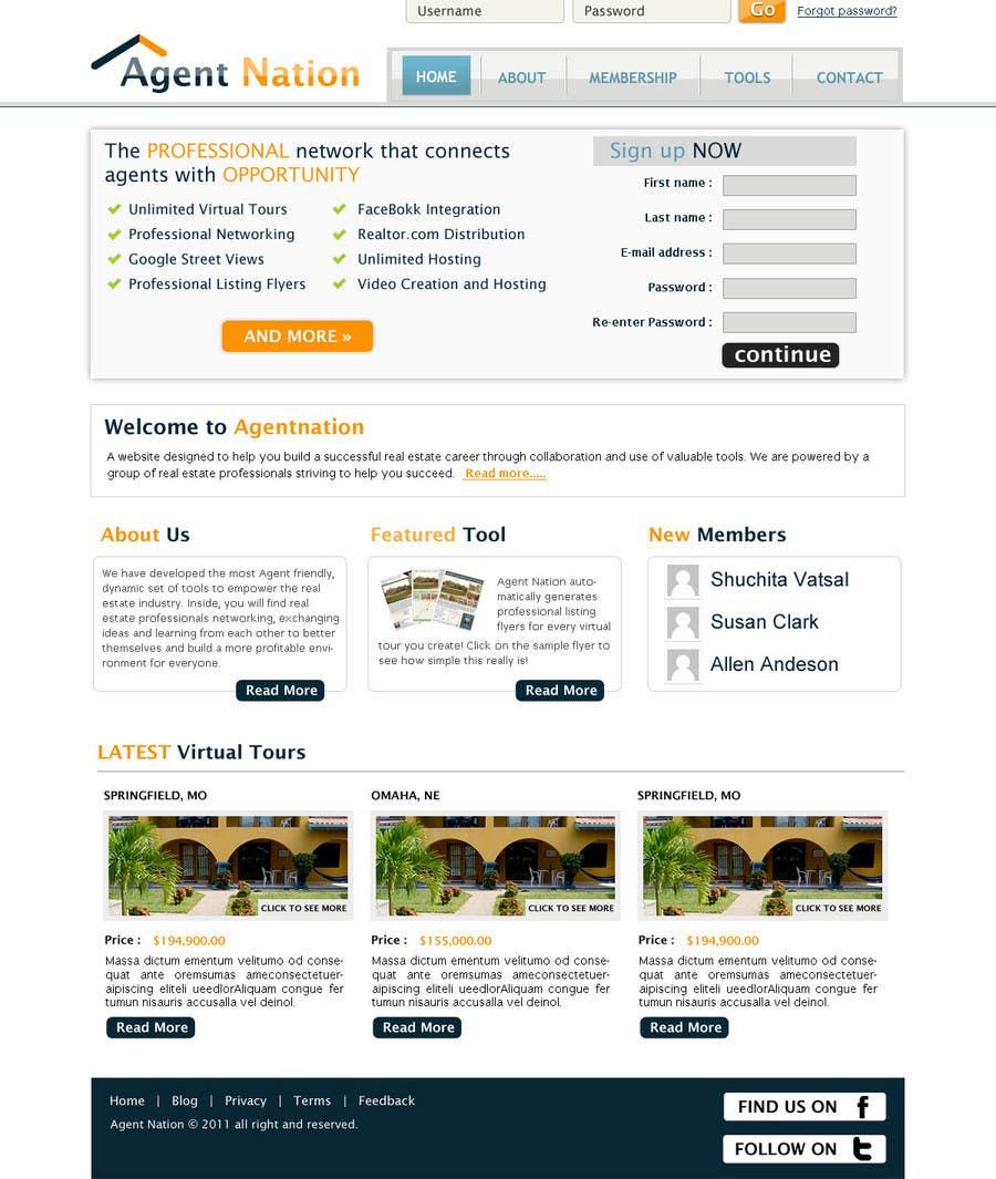 Contest Entry #                                        43                                      for                                         ReDesign for AgentNation.com - Interactive, social, marketing site for Real Estate Pros!