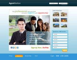 Macroads tarafından ReDesign for AgentNation.com - Interactive, social, marketing site for Real Estate Pros! için no 6