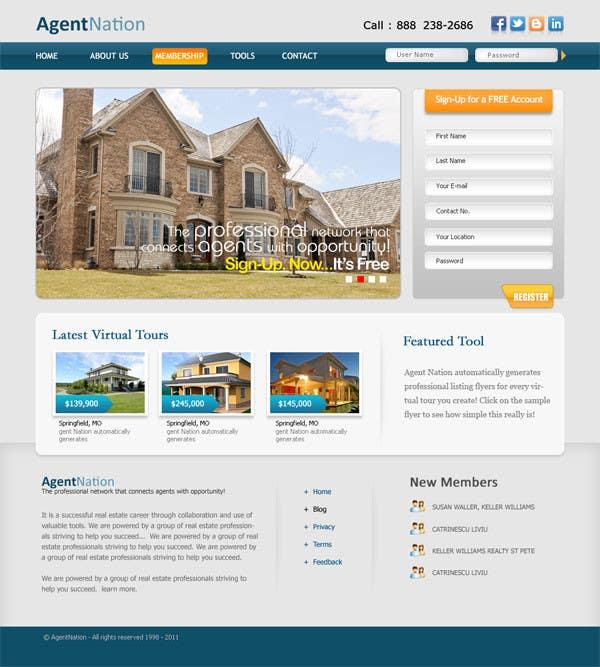 Bài tham dự cuộc thi #                                        70                                      cho                                         ReDesign for AgentNation.com - Interactive, social, marketing site for Real Estate Pros!