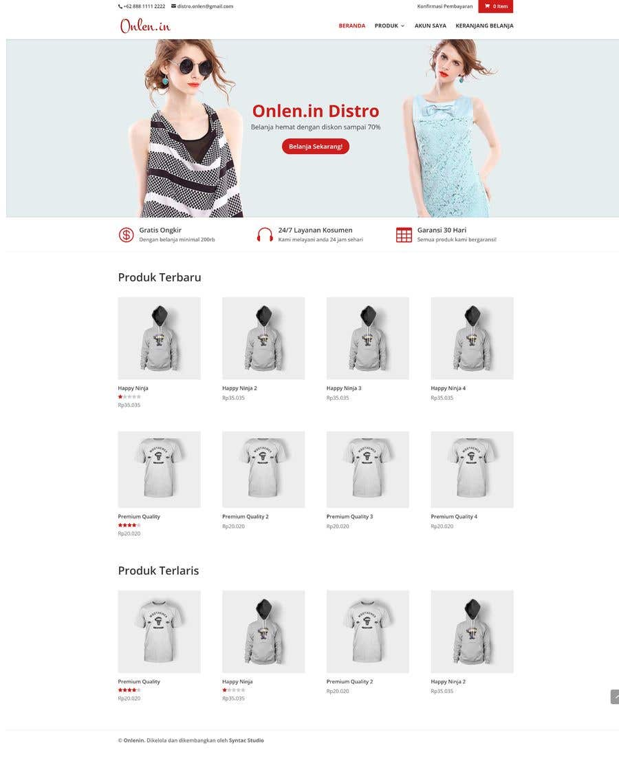Entry #4 by willyarisky for I need some Wordpress Template (Theme ...