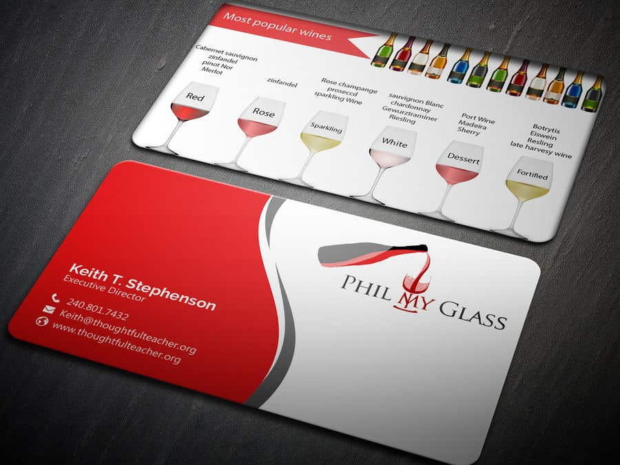 Entry #33 by dasshilatuni for Wine business card back design ...