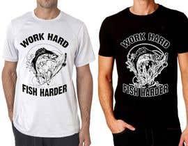 Nro 26 kilpailuun Design a Fishing T-Shirt with a Vintage Style käyttäjältä feramahateasril