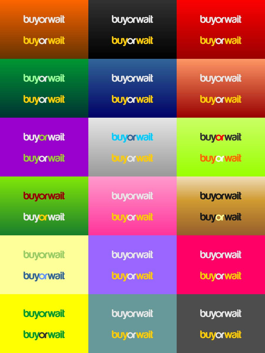 Kilpailutyö #485 kilpailussa Logo Design for BuyOrWait