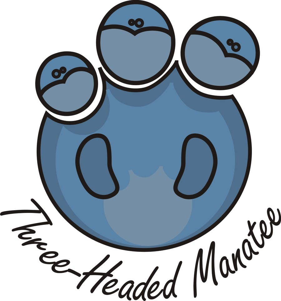 Inscrição nº                                         3                                      do Concurso para                                         Logo Design for Three-headed Manatee