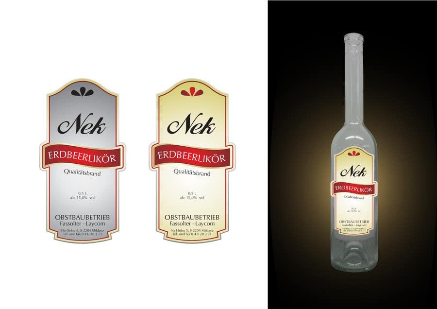 Kilpailutyö #137 kilpailussa Graphic Design- Label for fruit liqueur.