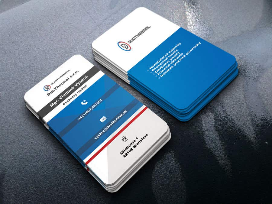 Entry #49 by SultanaMim for Business Cards for DuoThermal s.r.o. ...
