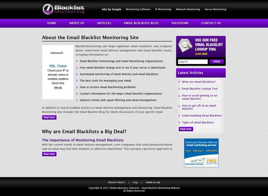 Konkurrenceindlæg #41 for Website Design for Global eBusiness Solutions, Inc. (Blacklist Monitoring Website)