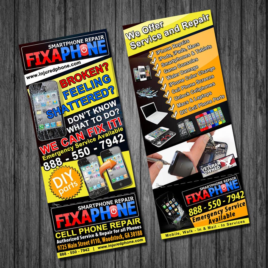 #20 for Graphic Design Flyer for Fix A Phone by qoaldjsk