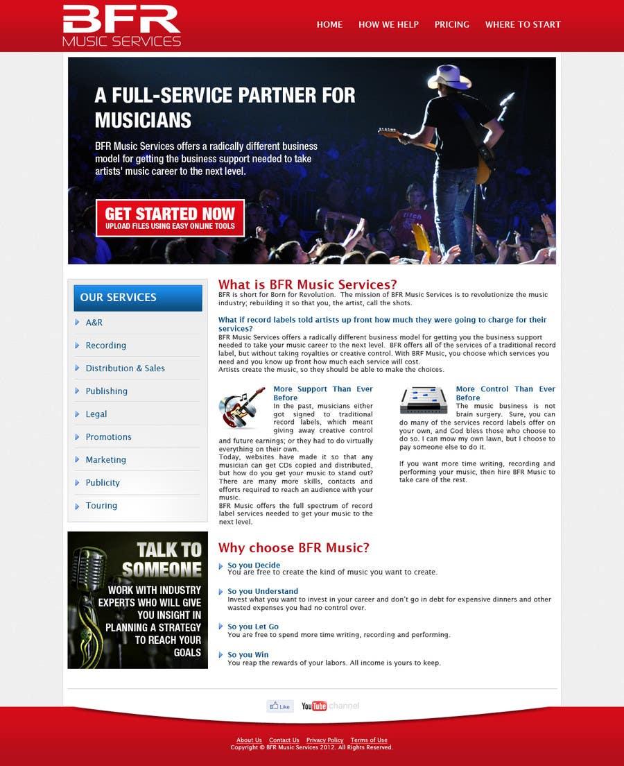 Inscrição nº                                         6                                      do Concurso para                                         Website Design for BFR Music Services