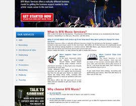 #6 untuk Website Design for BFR Music Services oleh tania06