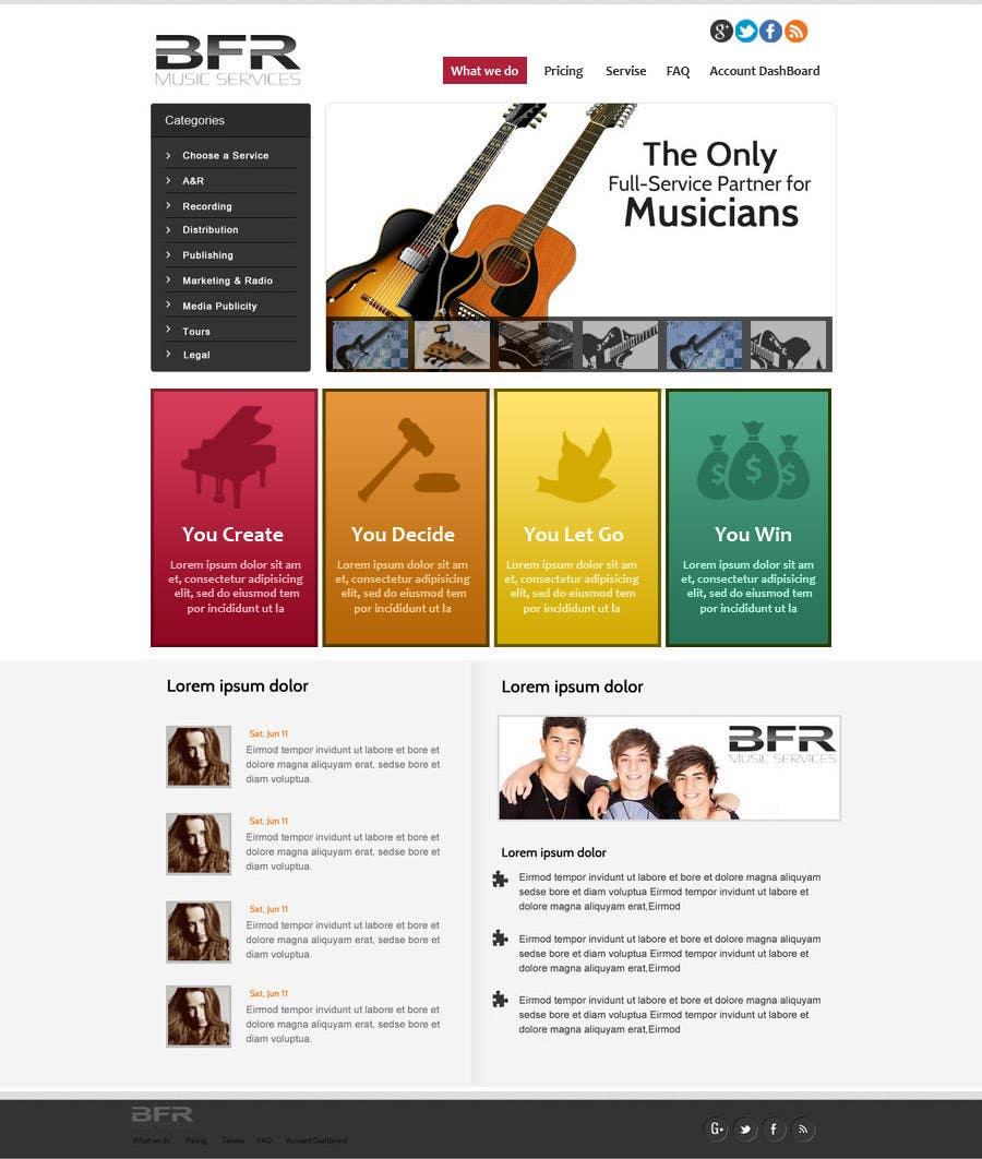 Inscrição nº                                         23                                      do Concurso para                                         Website Design for BFR Music Services