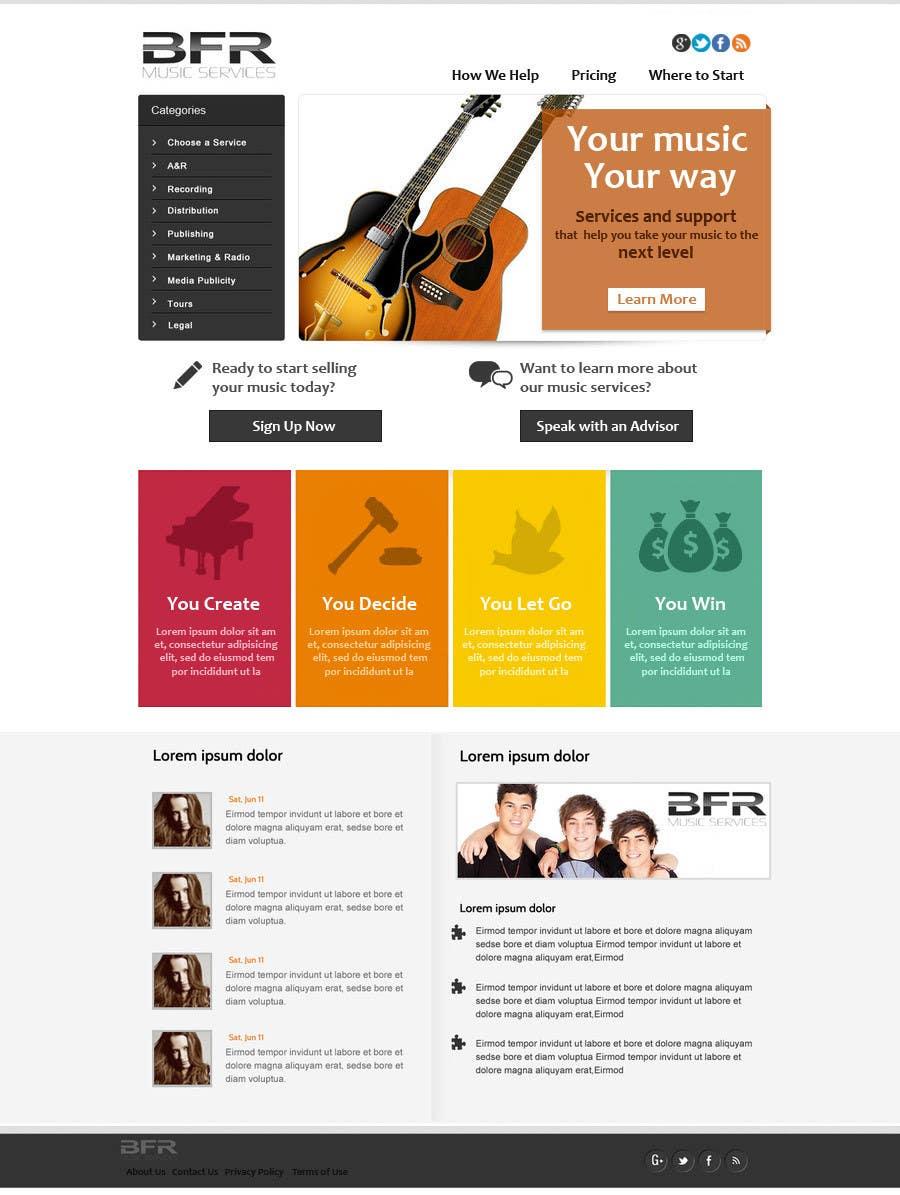 Inscrição nº                                         24                                      do Concurso para                                         Website Design for BFR Music Services