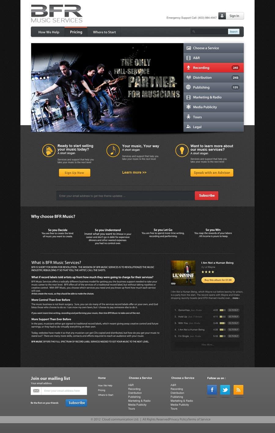 Inscrição nº                                         30                                      do Concurso para                                         Website Design for BFR Music Services