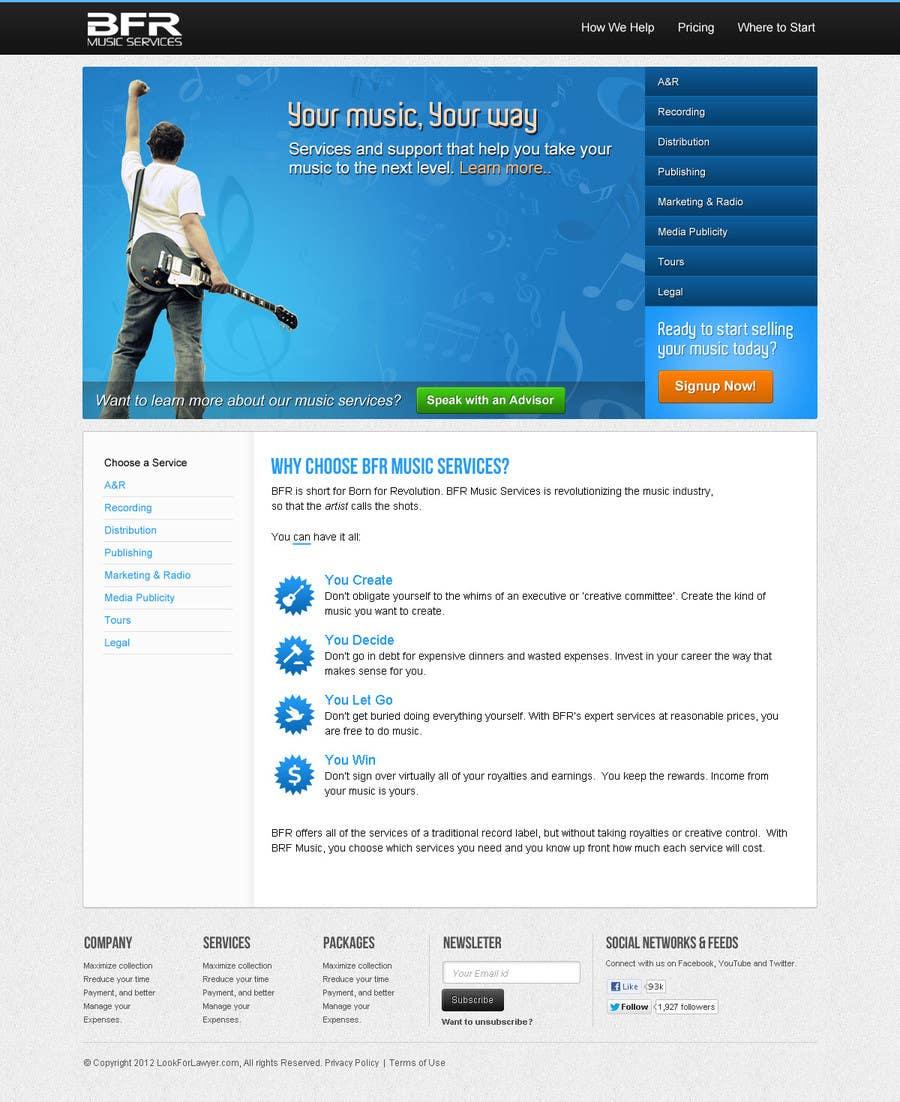 Inscrição nº                                         20                                      do Concurso para                                         Website Design for BFR Music Services
