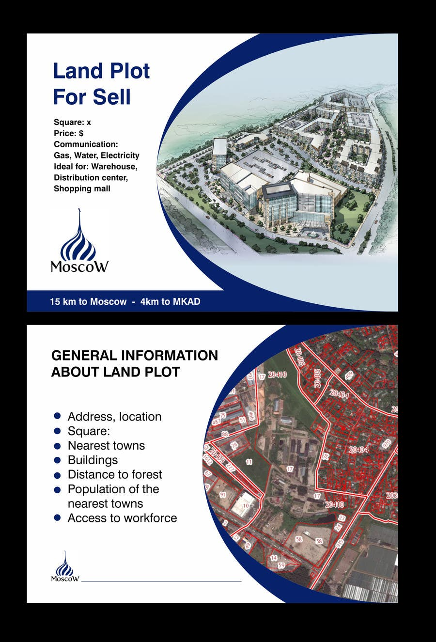 Design an powerpoint template for land plot selling 4 selling design
