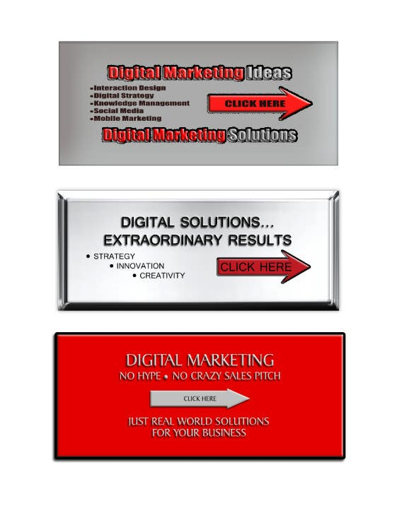 Banner Design Contest Entry #3 for Banner Ad Design for Ocho Digital Inc.