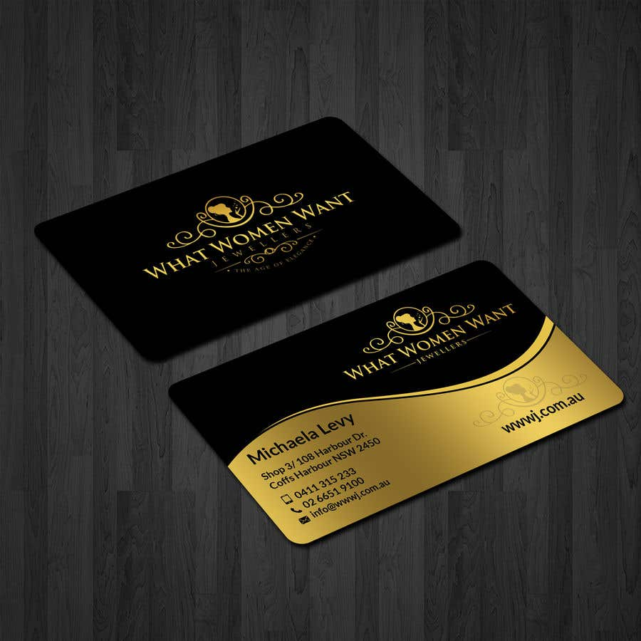 Entry #67 by patitbiswas for Design a Business Card for my jewellery ...