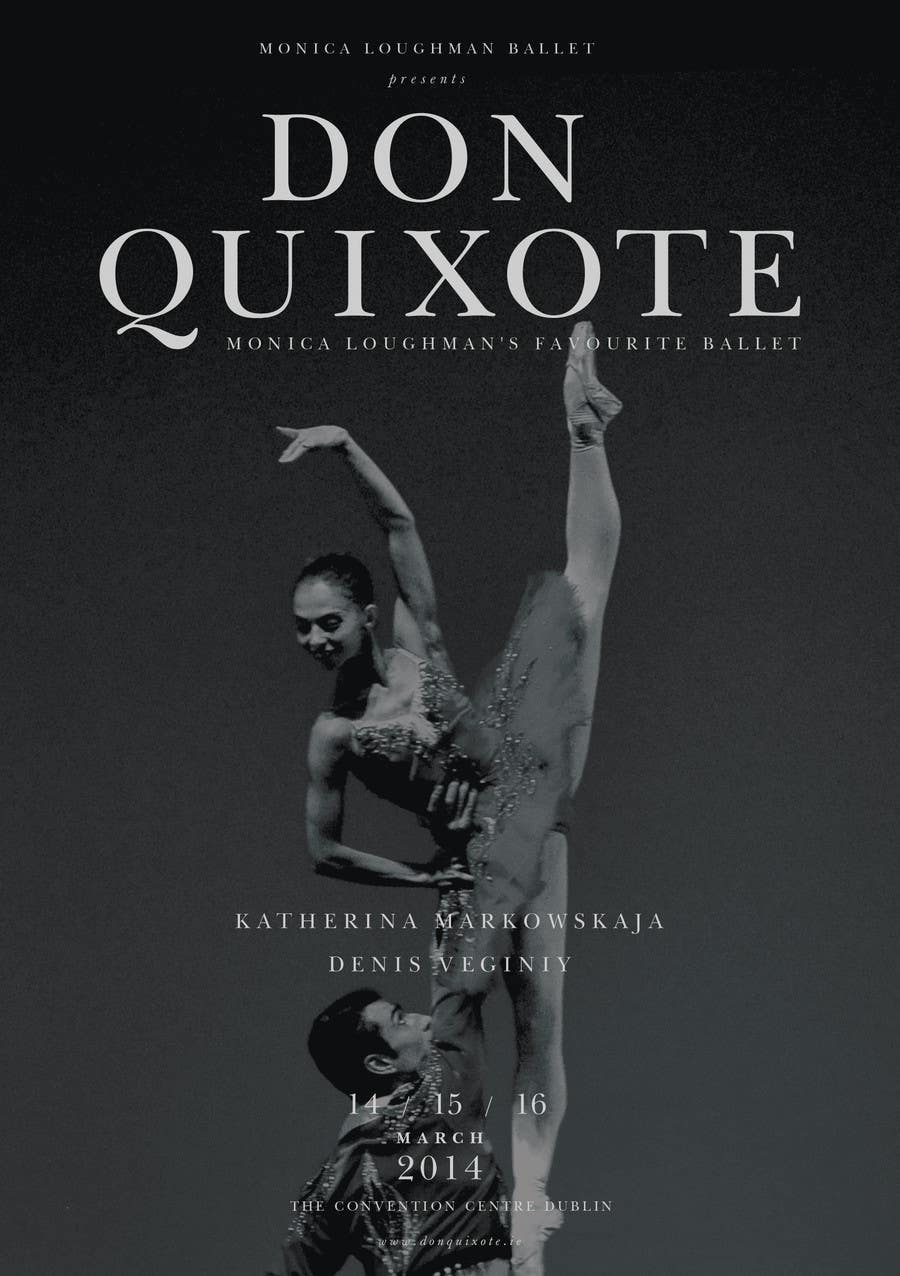 Contest Entry #47 for Graphic Design for Classical ballet event called Don Quixote