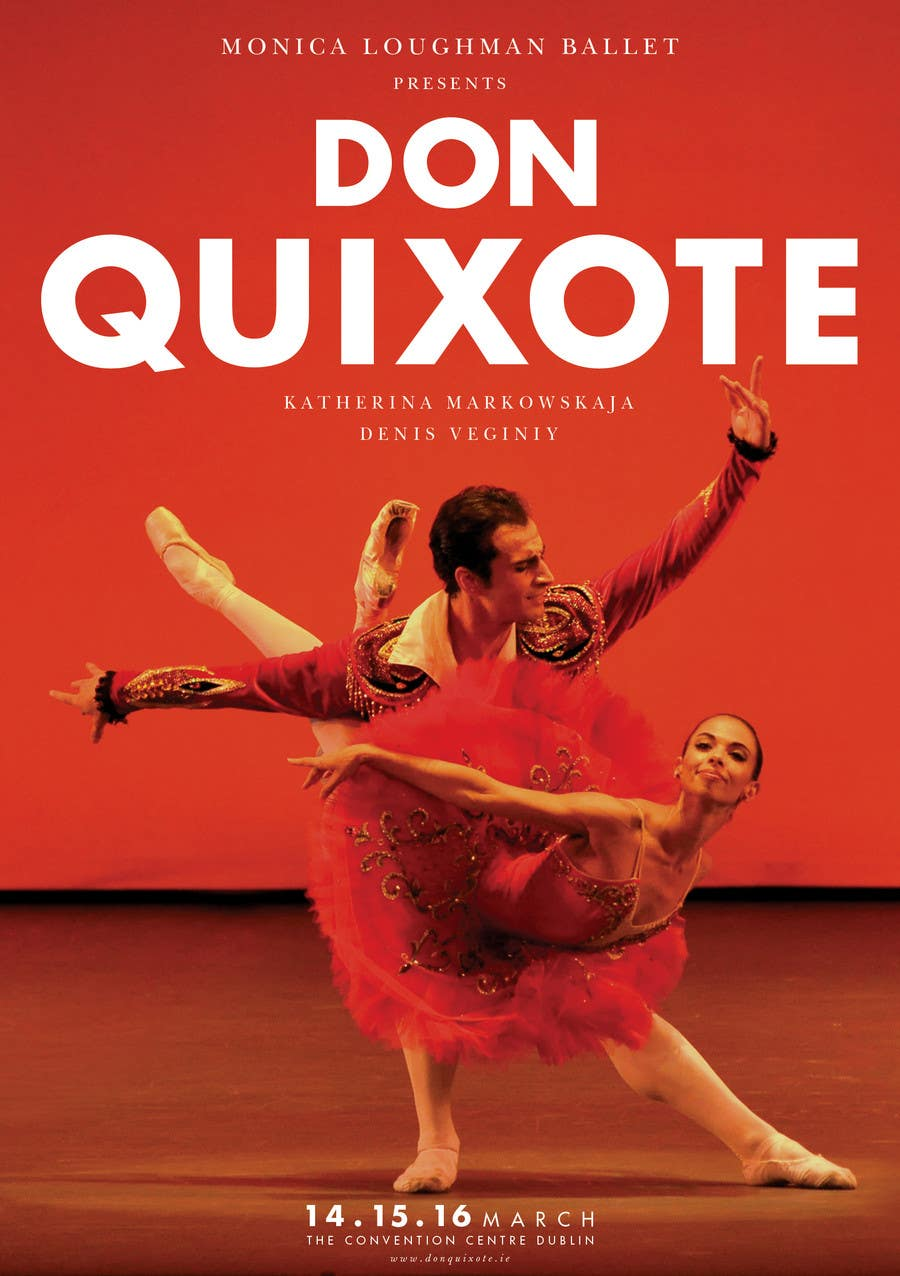 #106 for Graphic Design for Classical ballet event called Don Quixote by skurt