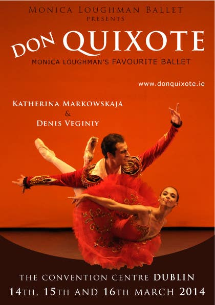 #211 for Graphic Design for Classical ballet event called Don Quixote by foenlife