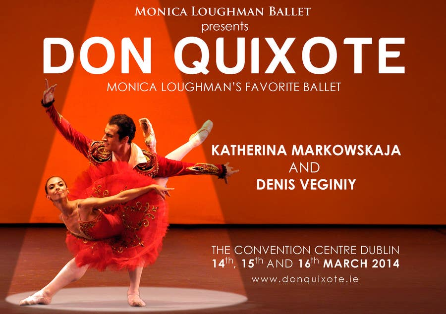 Penyertaan Peraduan #187 untuk Graphic Design for Classical ballet event called Don Quixote