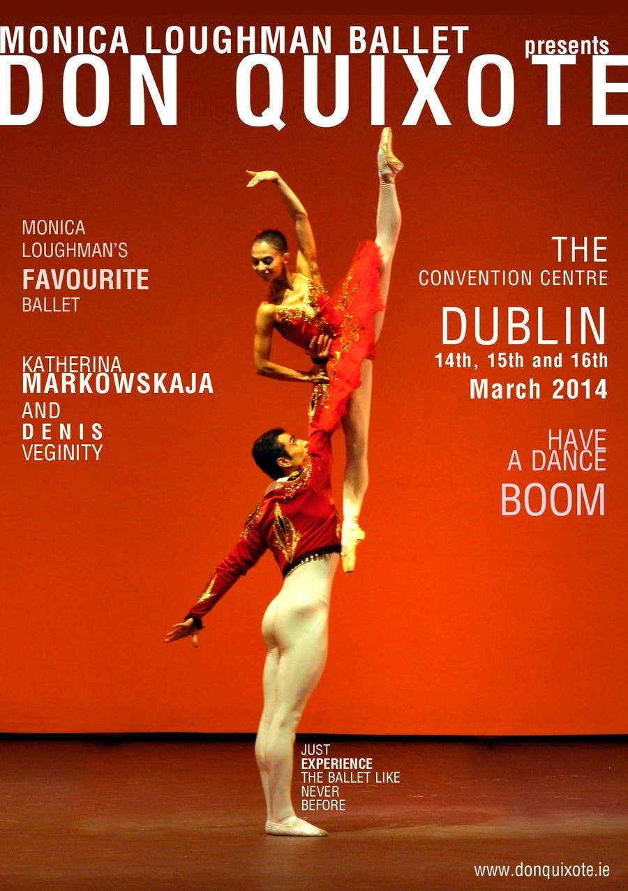 #11 for Graphic Design for Classical ballet event called Don Quixote by farhanpm786