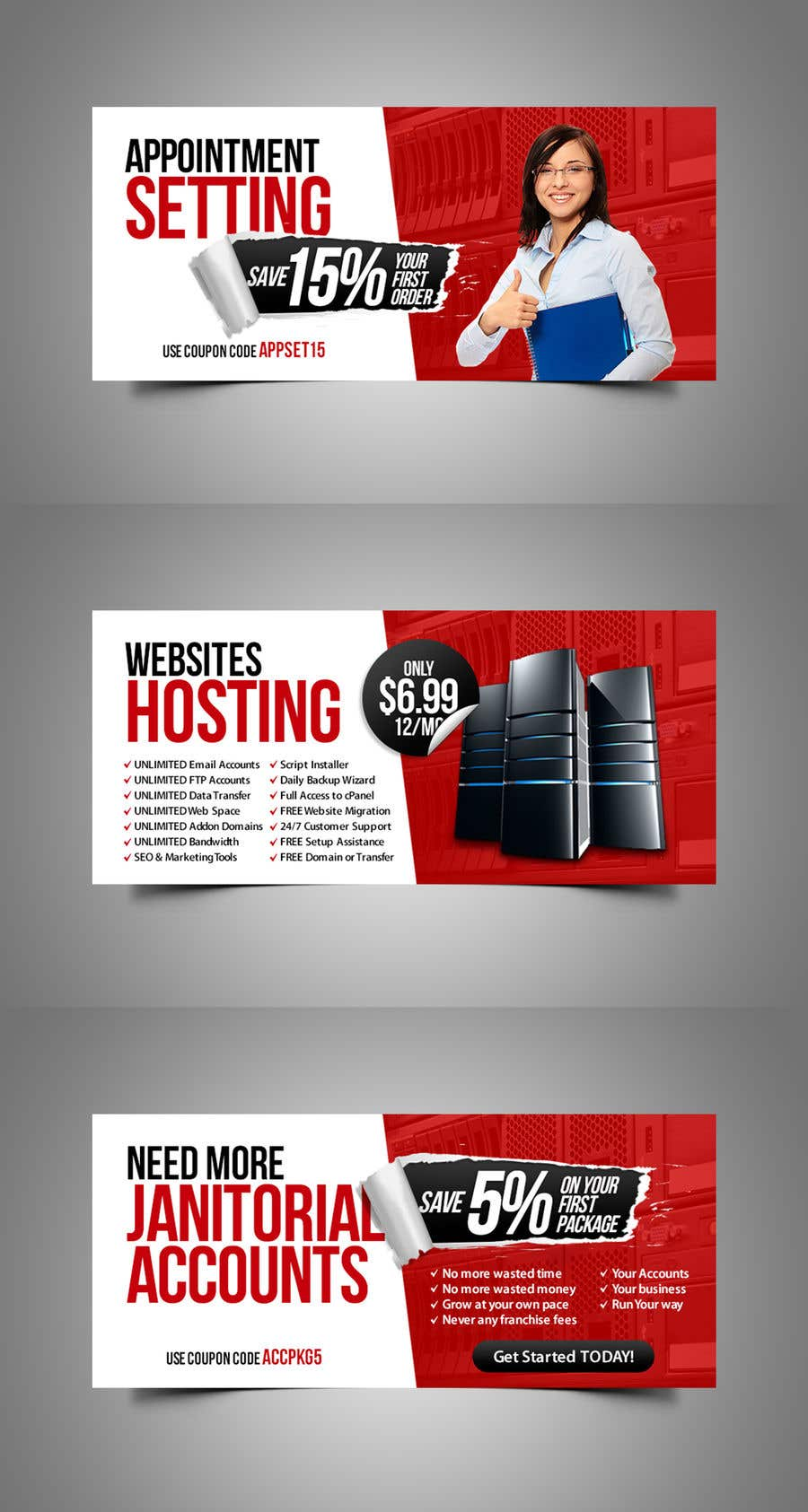 Konkurrenceindlæg #83 for Design 7 Advertising Banners