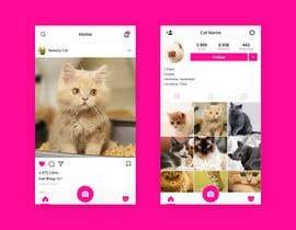 Nro 9 kilpailuun Design a mockup for an app like Instagram käyttäjältä auladi691