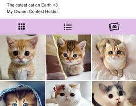 Nro 5 kilpailuun Design a mockup for an app like Instagram käyttäjältä GhadaGamalShebl