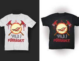 #35 cho Create a T-shirt design with text, flames, an axe and a sun chair! bởi kunjanpradeep