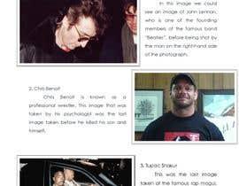 Nro 2 kilpailuun Compile a list of 5 last celebrity pictures taken before their death käyttäjältä jayveefulgencio