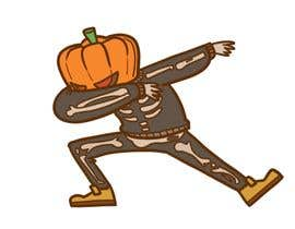 #7 for Pumpkin skeleton Dabbing Drawing by tsavu