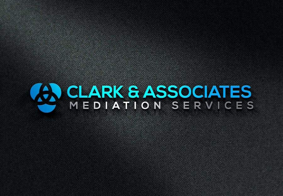 "Penyertaan Peraduan #27 untuk Logo for ""Clark & Associates Mediation Services"" which offers mediation services away from court for people involved in disputes. Key concepts: confidential, discussion, understanding, option generation, agreement, mutually beneficial outcome."