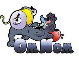 manikmoon tarafından Looking for an illustrative or cartoonish style logo For the name OmNom. için no 13